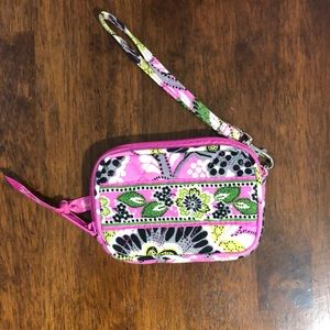 Vera Bradley zip coin and ID purse.